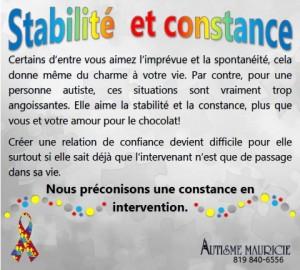 4 Stabilité et constance